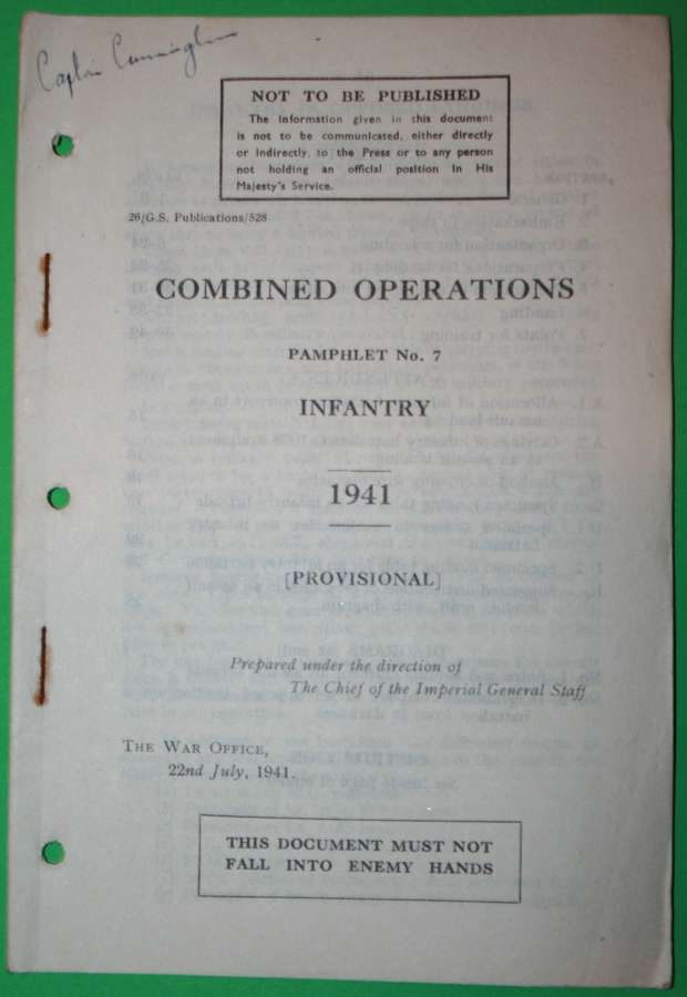 COMBINED OPERATIONS PAMPHLET NO 7 INFANTRY 1941