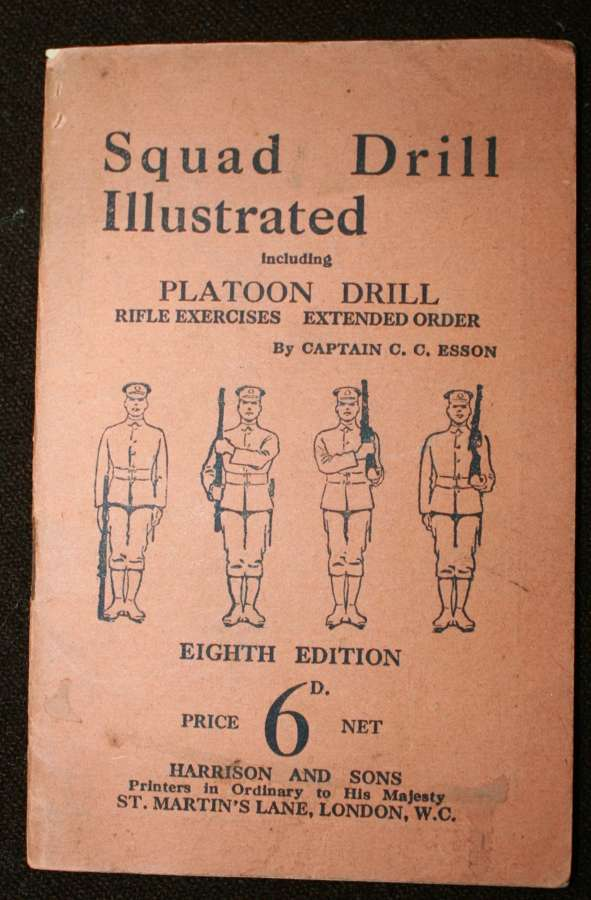 A WWI PERIOD SQUAD DRILL TRAINING BOOKLET