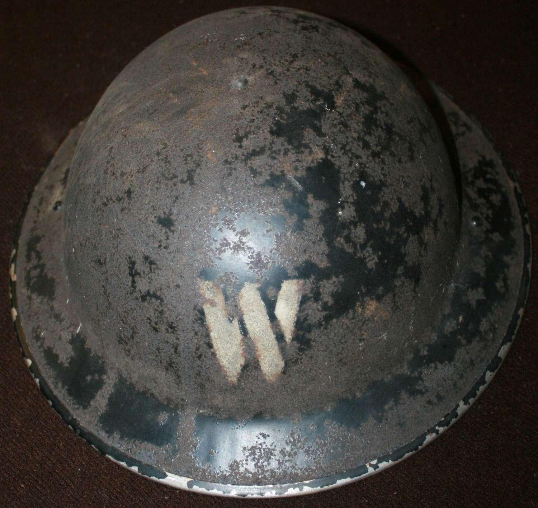 A WWII LONDON AREA WARDENS HELMET