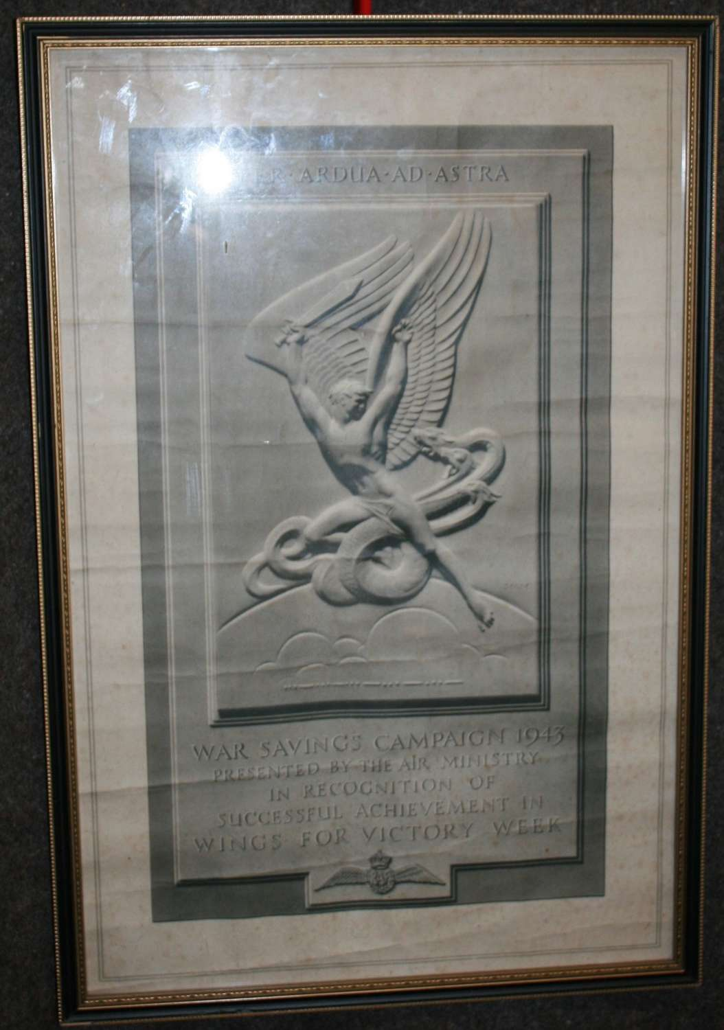 A SCARCE WWII AIR MINISTRY 1943 WINGS FOR VICTORY FUNDRAISING POSTER