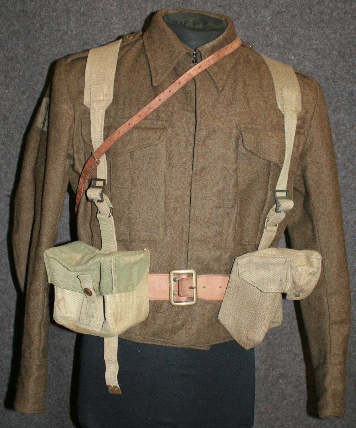 A COMPLETE WWII HOME GUARD WEBBING SET