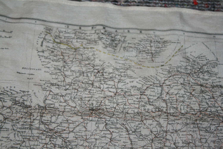 A WWII RAF SILK ESCAPE MAP OF GERMANY