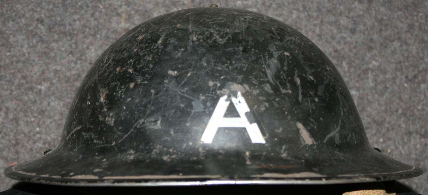 A WWII LONDON AMBULANCE HELMET