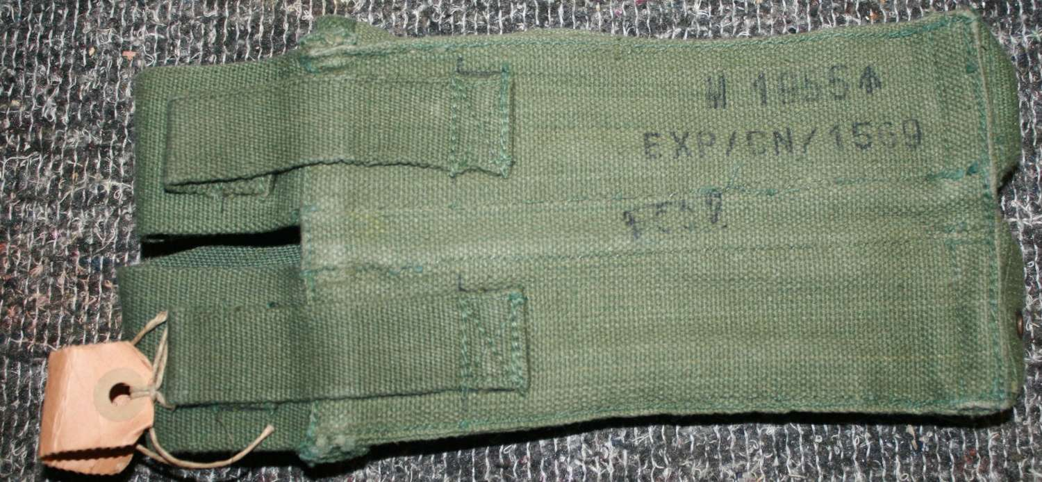 A MKI 1955 DATED EXPERIMENTAL STERLING MAGAZINE POUCH