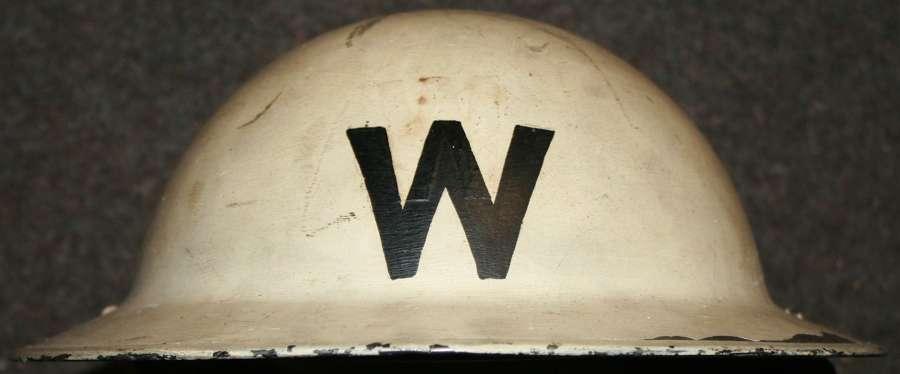A WWII LONDON AREA HEAD WARDENS WHITE HELMET