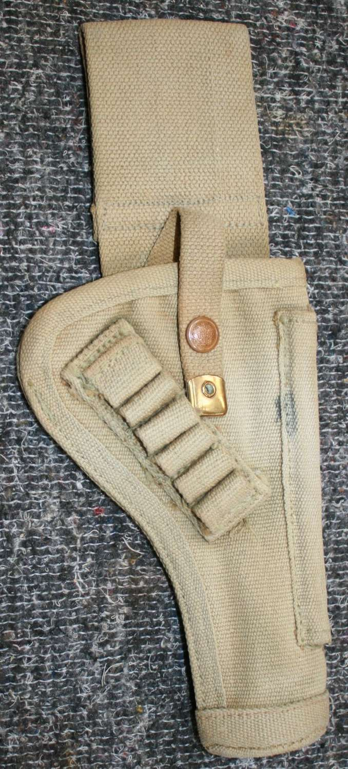 A GOOD WWII CANADIAN TANK CREW HOLSTER SHORTENED EXAMPLE