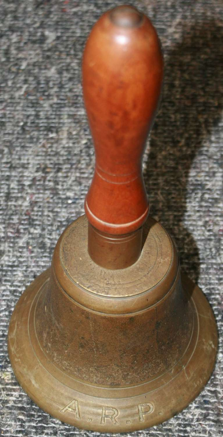 A WWII ARP HAND BELL