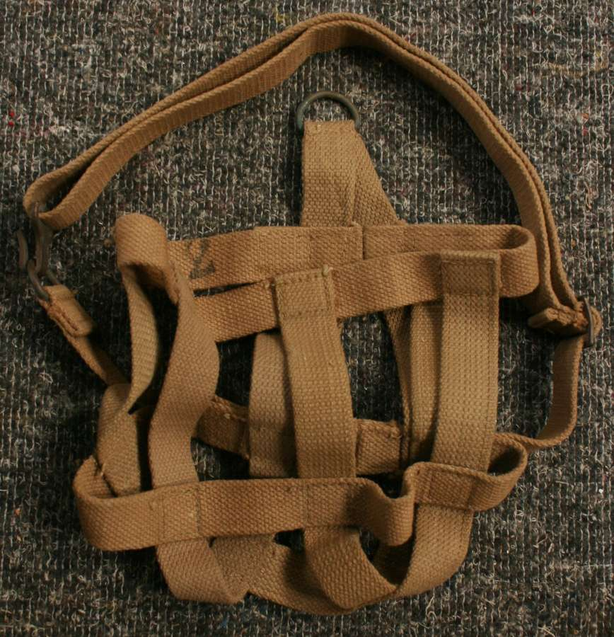 A WWII 1944 DATED 38 RADIO WEBBING CARRIER / CRADLE