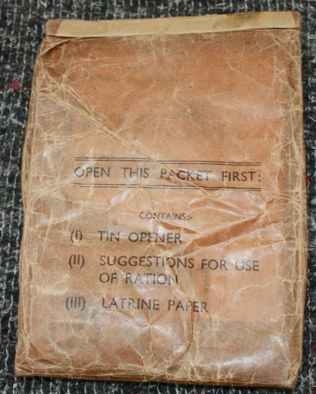 A 1950'S 10 MAN RATION PACK UTILITY PACK