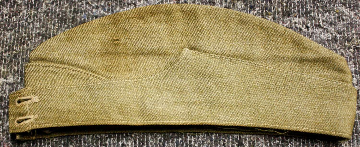 A OTHER RANKS EARLY WWII USED SIDE CAP SIZE IS 7 1/4