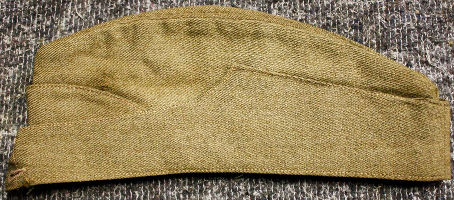 A WWII OTHER RANKS SIDE CAP GOOD USED EXAMPLE