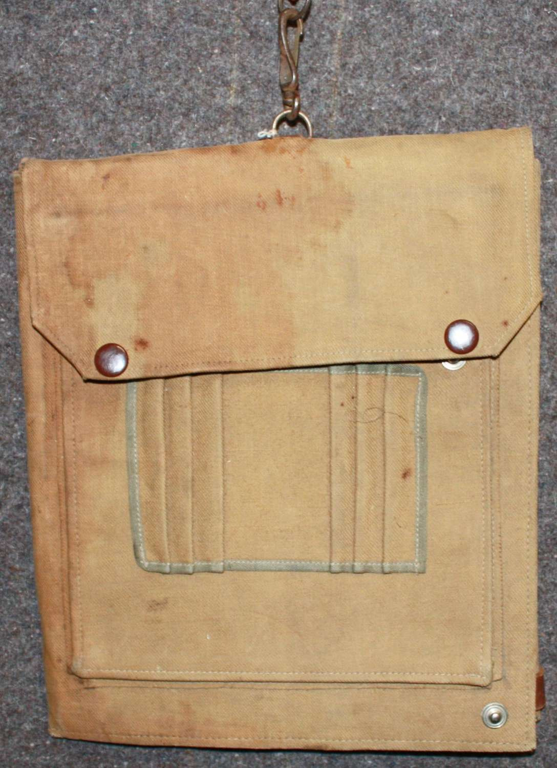 A WWII HOME GUARD USED WWI MAP CASE MONMOUTHSHIRE