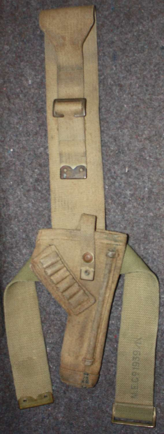 A RARE PRE WWII 1938 DATED LONG TANK CREW HOLSTER