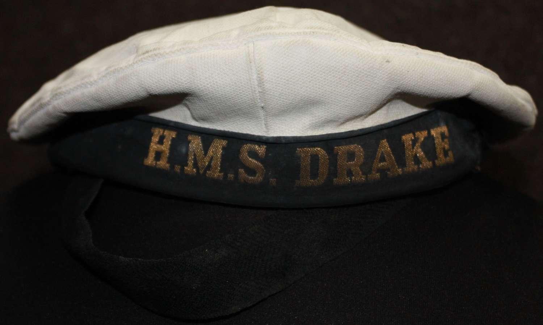 A LATE WAR WRNS HAT HMS DRAKE