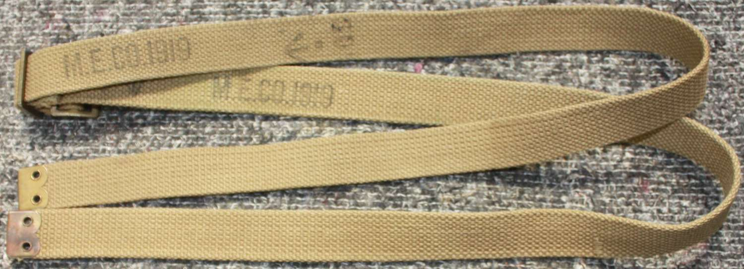 A MINT PAIR OF 1919 DATED UTILITY STRAPS