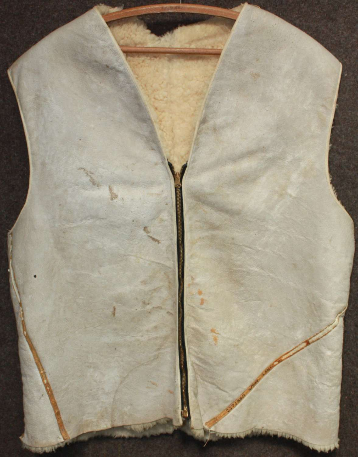 A RARE EXAMPLE OF A WWII COLD WEATHER OVER WAISTCOAT