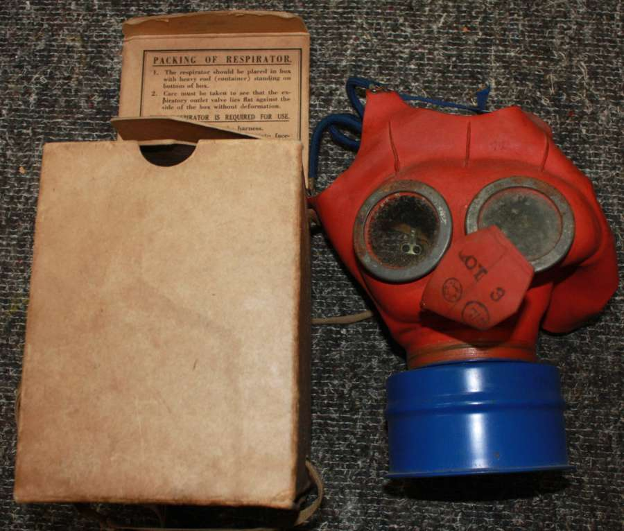 A GOOD WWII BRITISH CIVILIAN ISSUE CHILD'S MICKEY MOUSE MASK