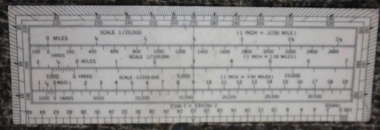 A SCARCE WWII 6 INCH RECTANGULAR PROTRACTOR A MKIII