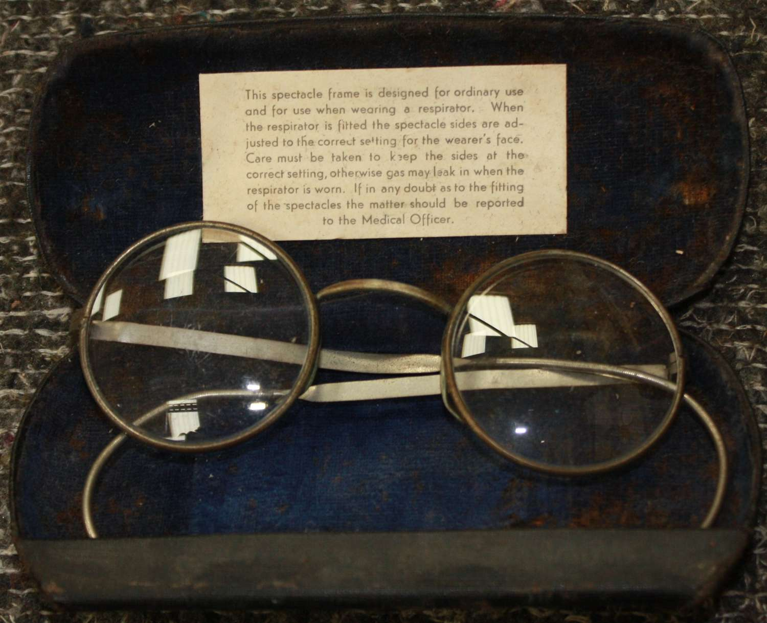 A PAIR OF WWII GAS MASK SPECTICALS