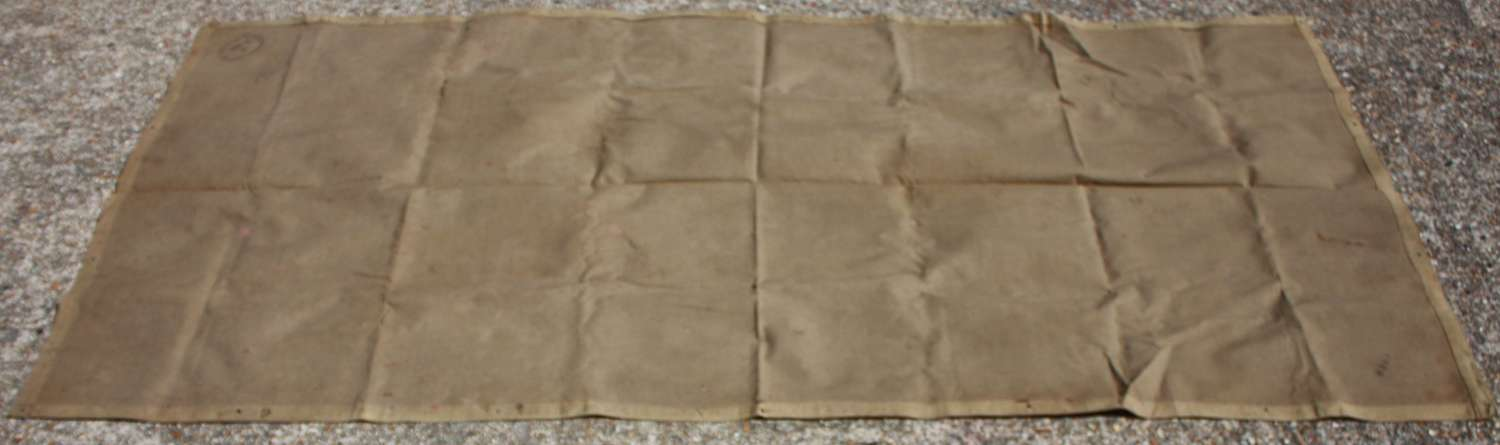 A BRITISH ISSUE 1942 DATED TAN GROUND SHEET