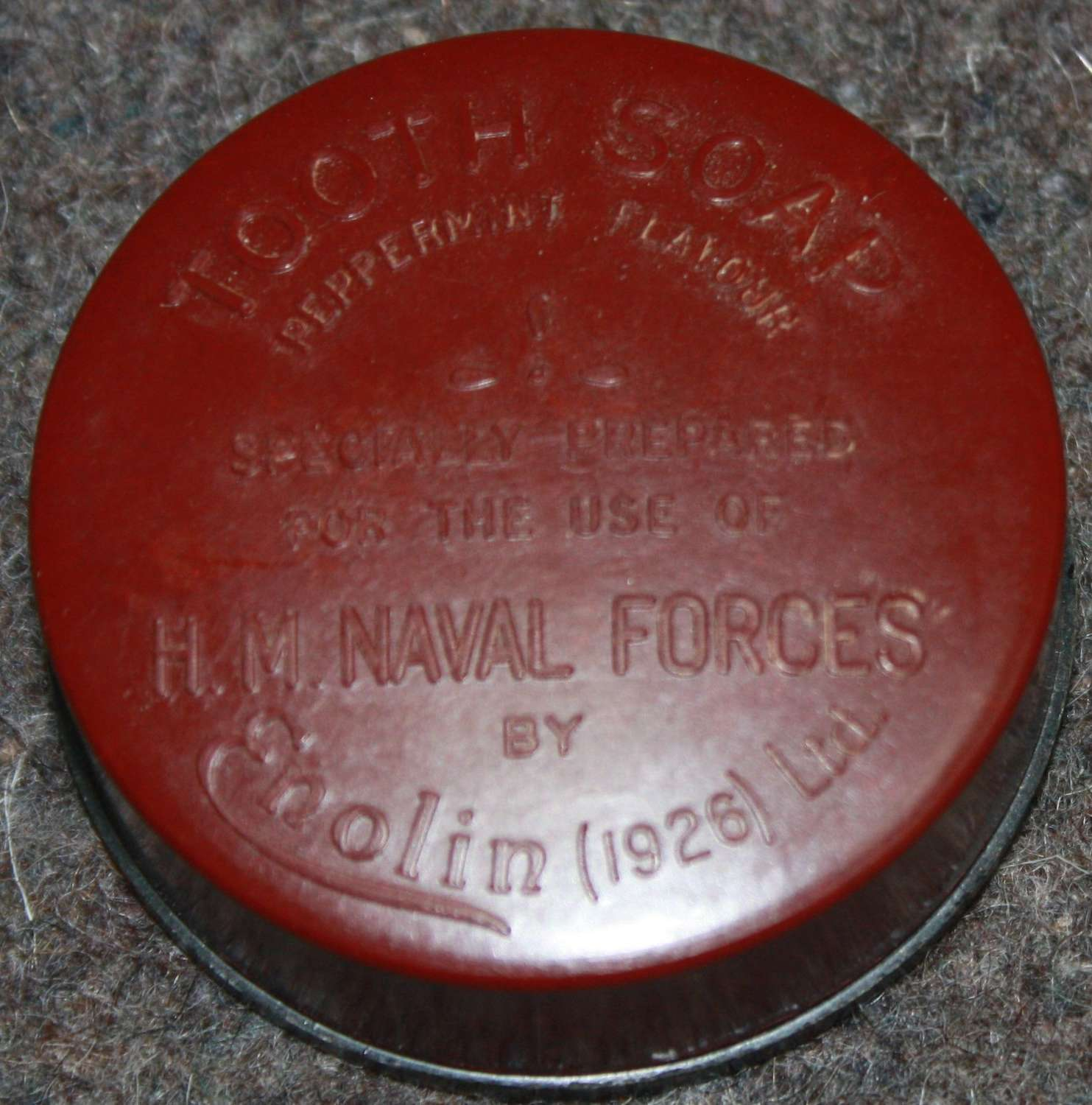 A GOOD MINT EXAMPLE OF THE RN TOOTH SOAP PEPPERMINT FLAVOUR