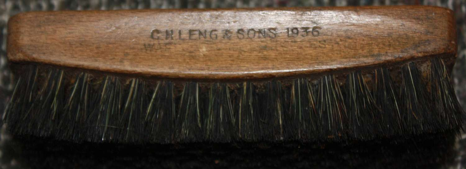 A 1936 DATED BRITISH ISSUE SHOE BRUSH