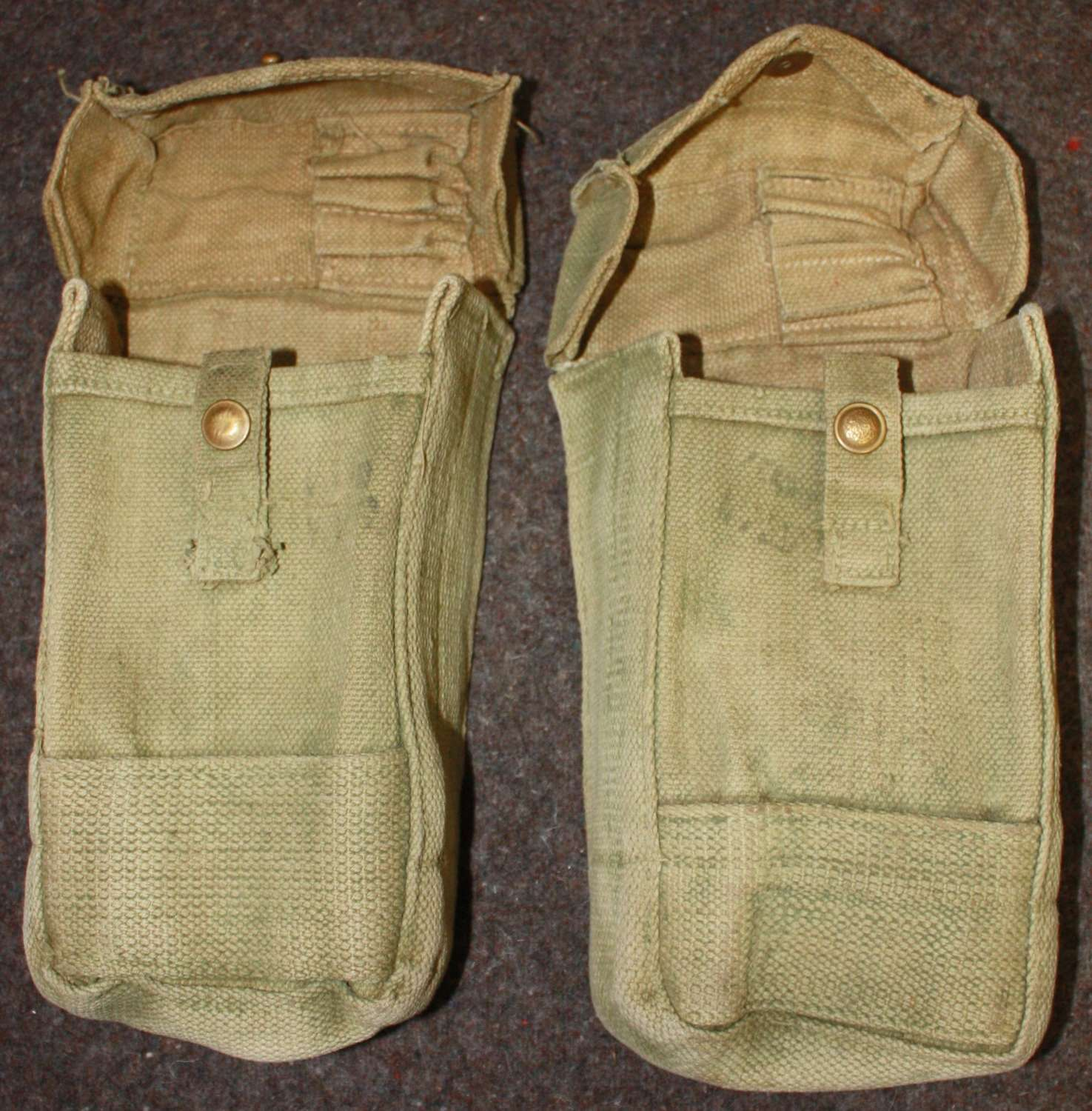 A NICE PAIR OF INDIAN 37 PATTERN AMMO POUCHES