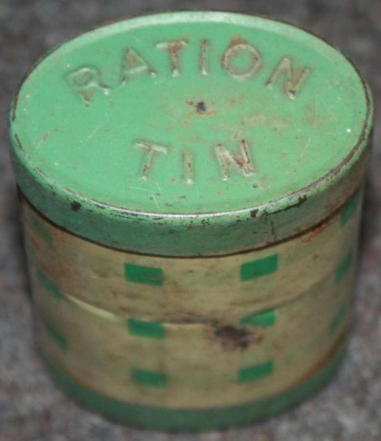 A TEA AND SUGAR RATION TIN