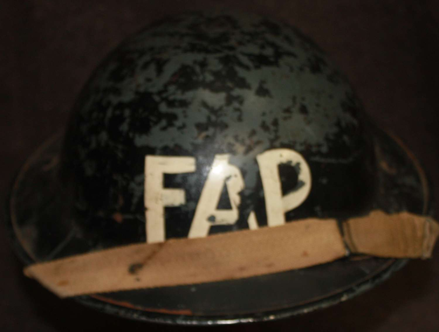 A WWII FIRST AID PARTY CIVIL DEFENCE HELMET