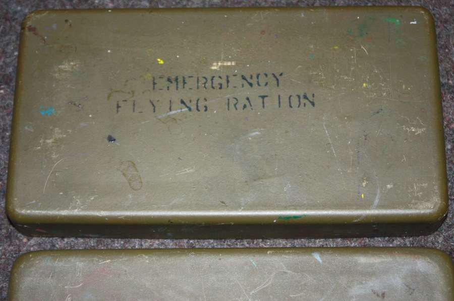 A POST WWII RAF EMERGENCY RATION TIN