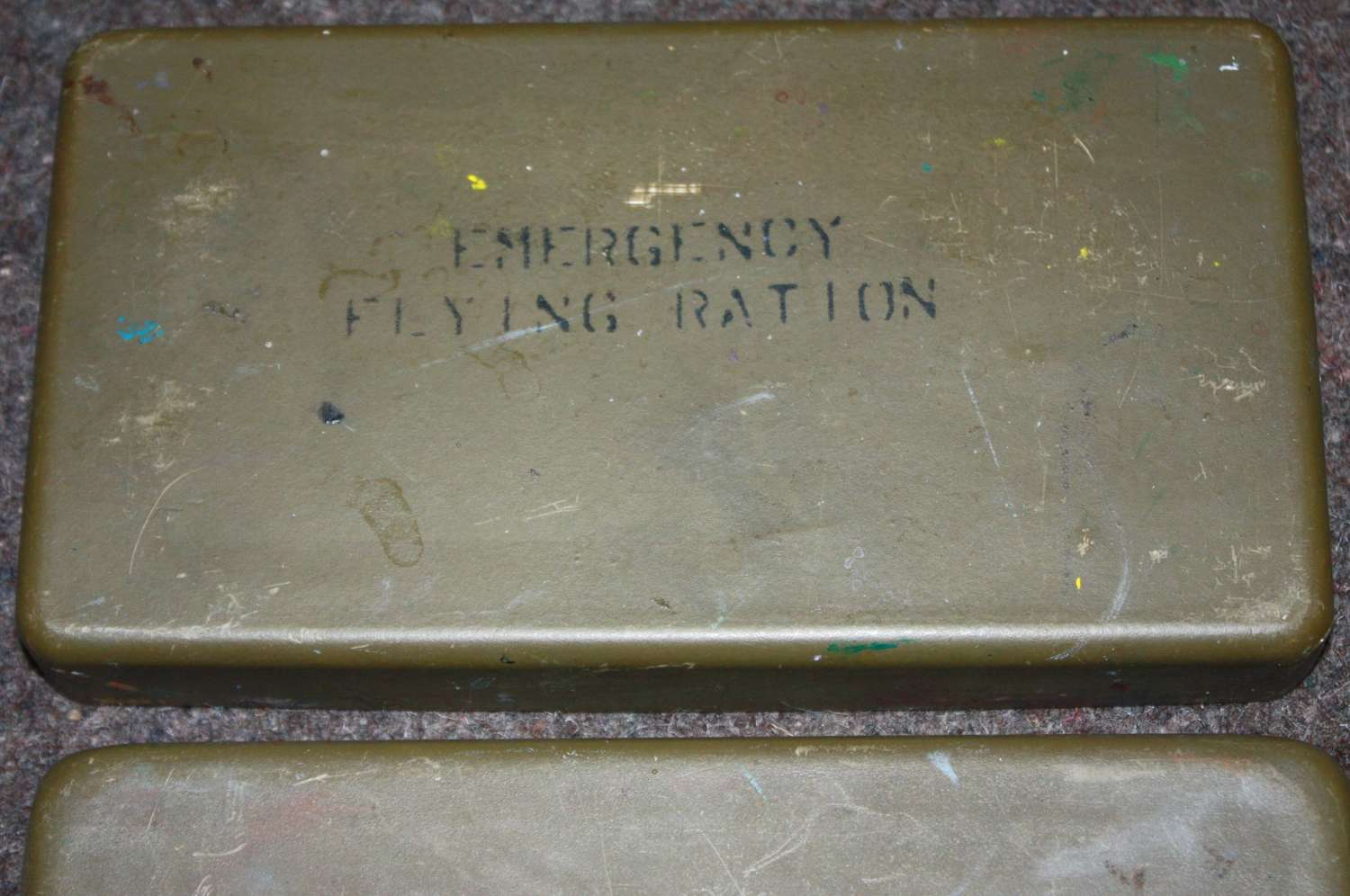A POST WWII RAF EMERGENCY RATION TIN