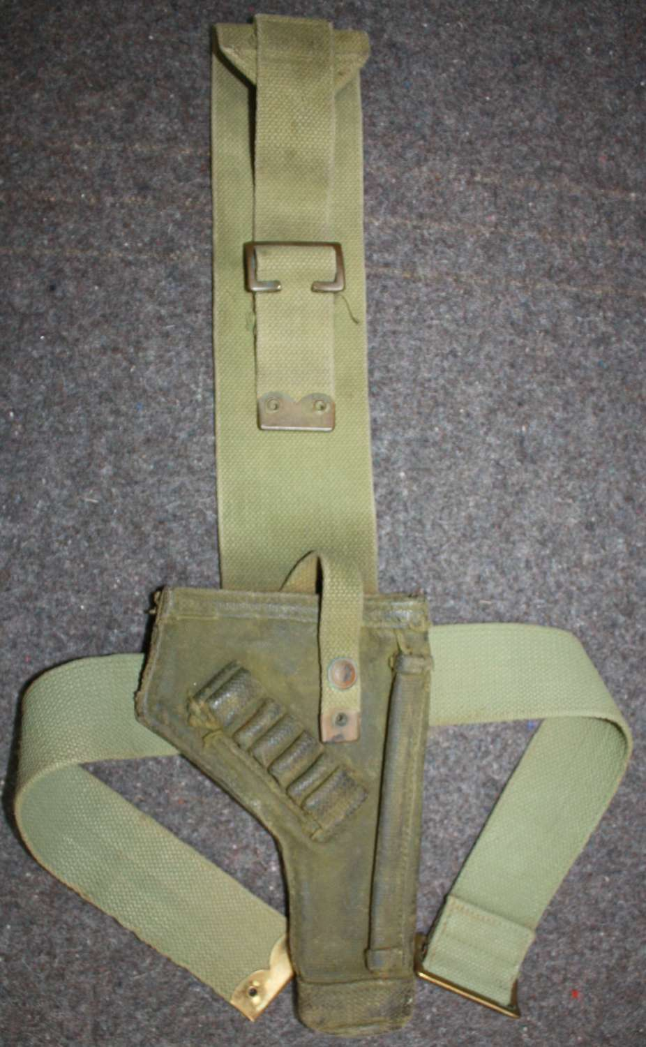A WWII FULL LENGTH WELL USED TANK HOLSTER