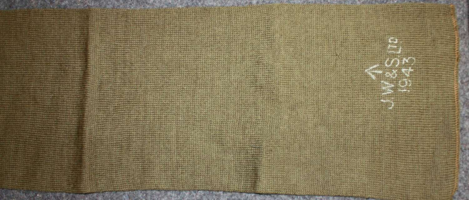 A 1943 DATED BRITISH ARMY SCARF