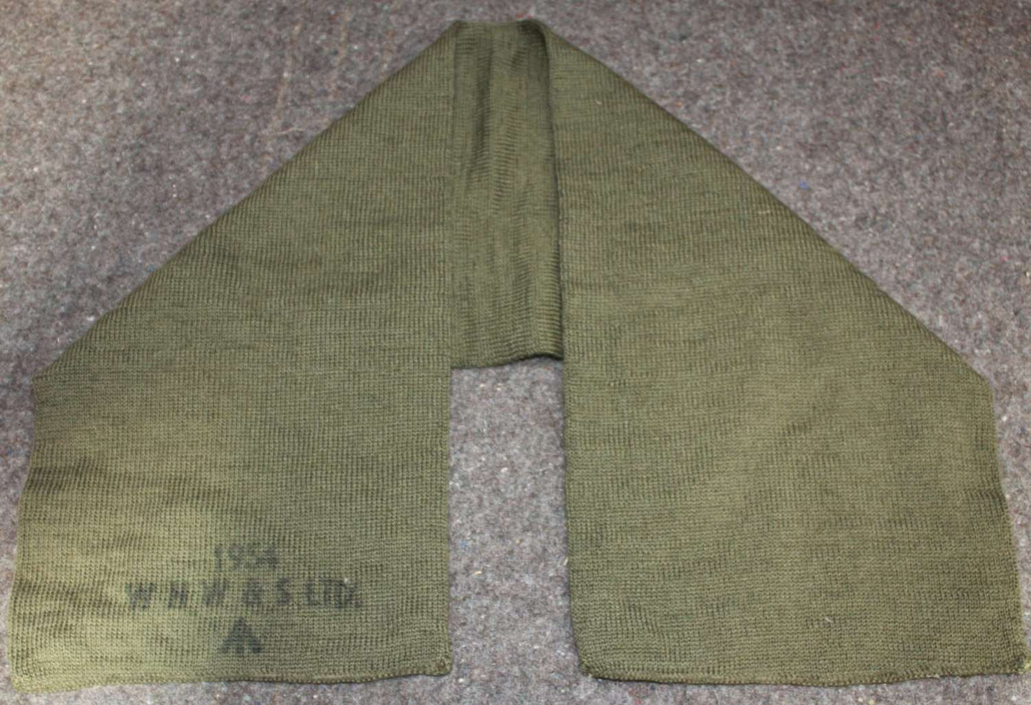 A 1954 DATED BRITISH ARMY SCARF