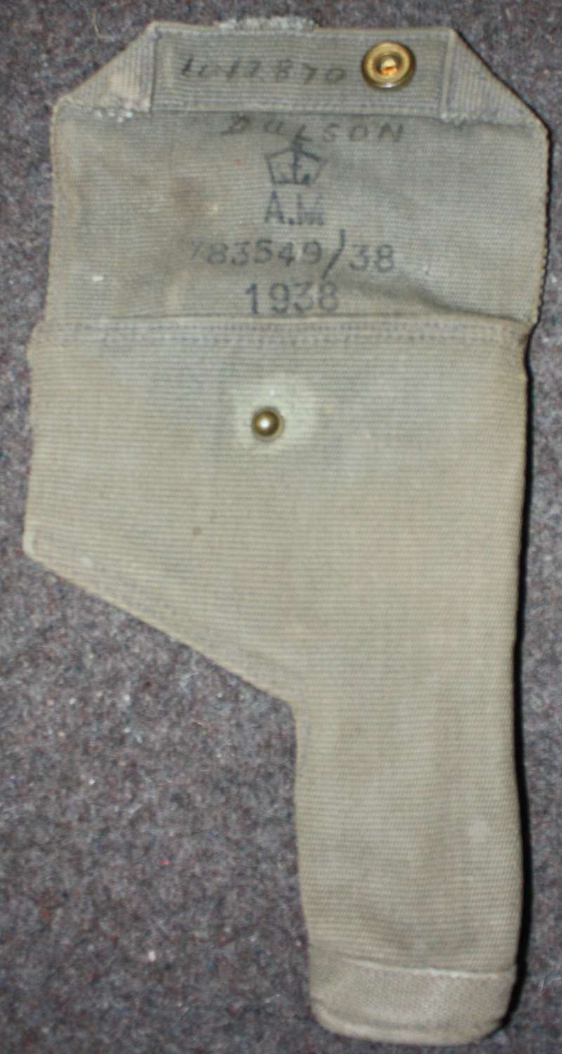 A NAMED 1938 DATED RAF 25 PATTERN WEBBING HOLSTER