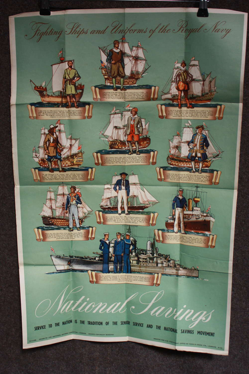 A NATIONAL SAVINGS POSTER SCARCE ROYAL NAVY EXAMPLE