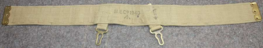 A GOOD LARGE SIZE REAR SECTION FOR THE CAVALRY WEBBING BELT