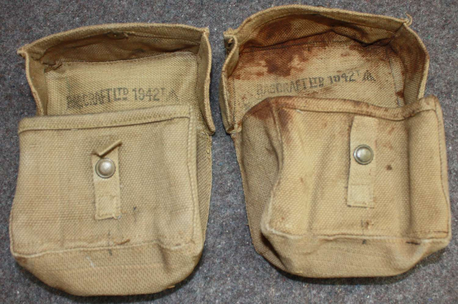 AP AIR OF THE 1942 PATTERN HOME GUARD AMMO POUCHES