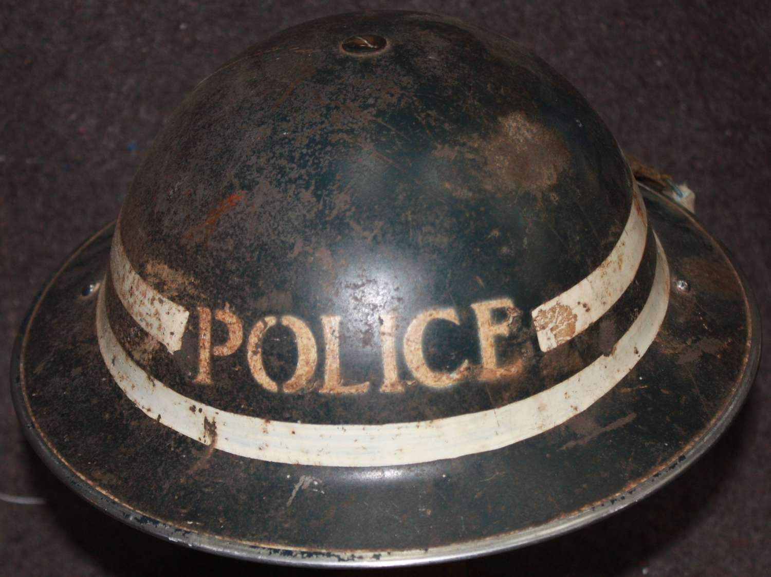 A WWII POLICE SGTS HELMET