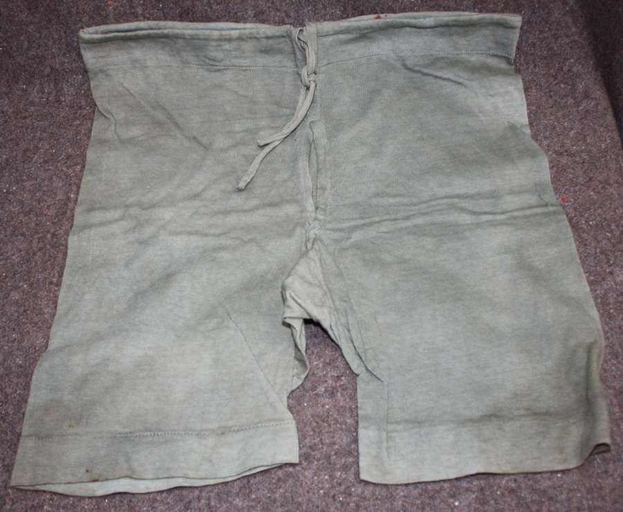 A PAIR OF WWII 1944 DATED JUNGLE BOXER SHORTS