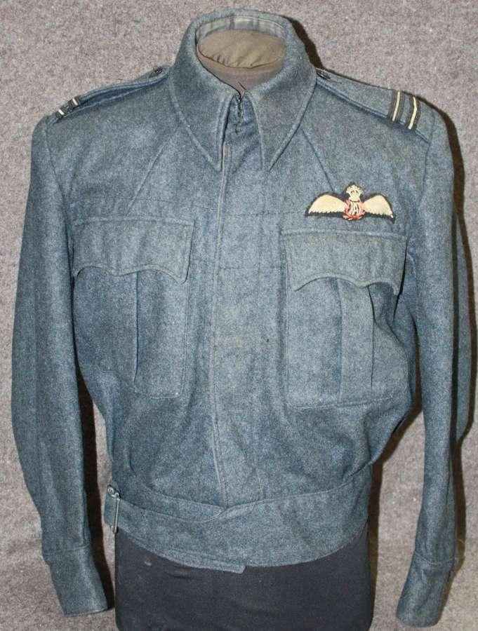 A RAF PILOTS SUITS AIR CREW BATTLE DRESS JACKET 1943 DATED  / BLOUSE