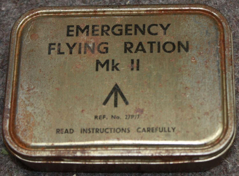 A WWII RAF EMERGENCY FLYING RATION TIN MKII