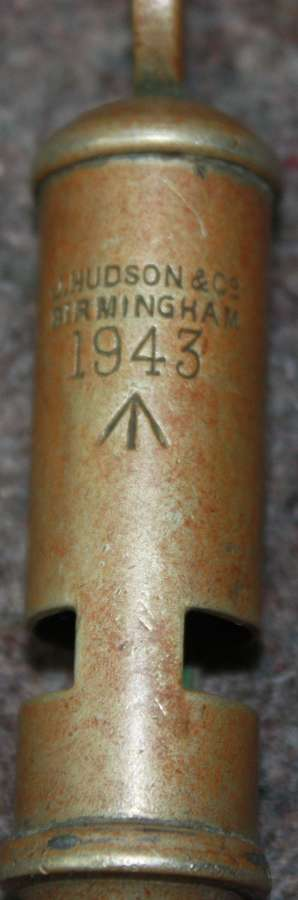 A WWII 1943 DATED TUBE WHISTLE