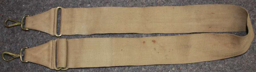 A WWI OFFICERS SIDE PACK / COAT CARRIER STRAP ONLY