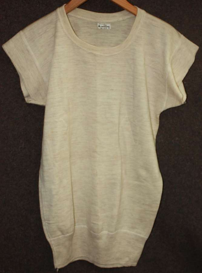 A SIZE 3 1942 DATED VEST / TEA SHIRT COLD WEATHER