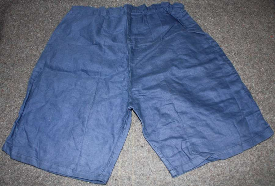 A VERY GOOD PAIR OF THE BRITISH ISSUE PT SHORTS 1940 DATED SIZE 1