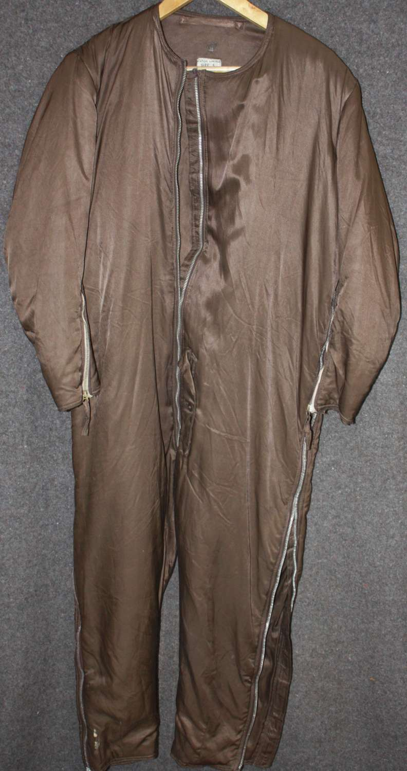 A WWII RAF SIDCOT LINER AM MARKED NO DAMAGE JUST 2 ZIPPERS MISSING