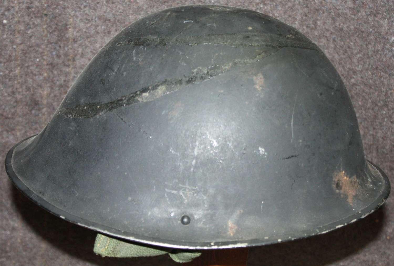 A GREEN KOREAN WAR PERIOD TURTLE HELMET BLACK EXAMPLE