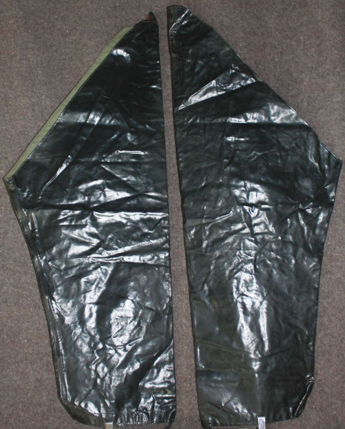 A PAIR OF THE AFS / NFS WATERPROOF LEGGINGS WWII PERIOD