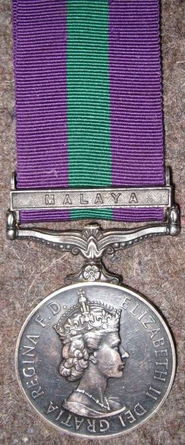 A POST 1953 ISSUE WOMAN'S ROYAL ARMY CORPS MALAYA ISSUED MEDAL
